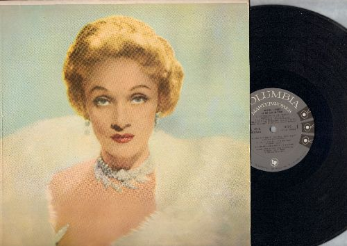 Dietrich, Marlene - At The Café De Paris: Lili Marlene, Jonny, The Laziest Gal In Town, Lola, The Boys In The Backroom, Falling In Love Again, Look Me Over Closely (vinyl LP record, first issue) - EX8/EX8 - LP Records