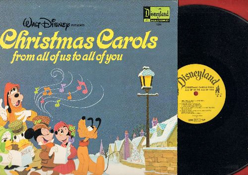 Disney - Christmas Carols From All Of Us To All Of You (vinyl LP record) - VG7/EX8 - LP Records