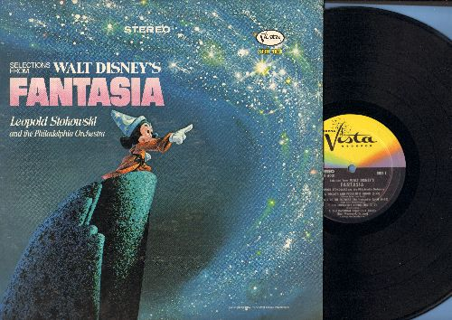 Disney - Fantasia - Selections from Score by Leopold Stokowski and the Philadelphia Orchestra (vinyl STEREO LP record) - EX8/NM9 - LP Records