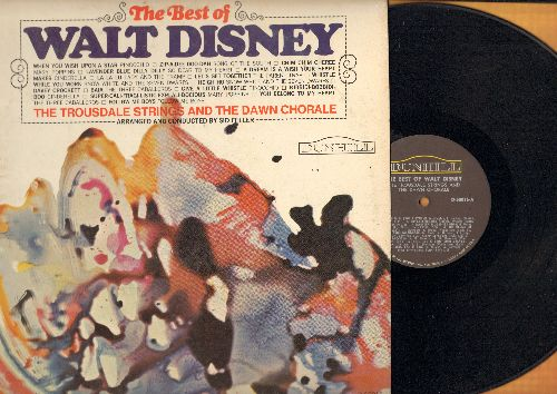 Trousdale Strings & The Dawn Chorale - The Best Of Walt Disney: When You Wish Upon A Star, Zip-A-Dee-Doo-Dah, Bibbidi-Bobbidi-Boo, Whistle While You Work (vinyl MONO LP record) - VG7/EX8 - LP Records