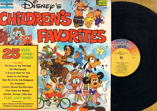 Disney - Children's Favorites Vol. 1 - 25 Best Loved Songs (vinyl STEREO LP record) - VG7/EX8 - LP Records