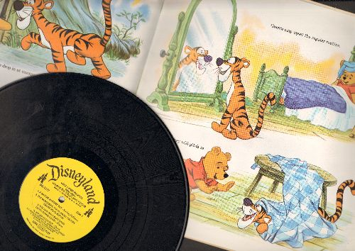 Disney - Winnie The Pooh and Tigger - Includes all the songs from film -Winnie The Pooh And The Blustery Day- (vinyl MONO LP record with BONUS picutre story pages) - NM9/EX8 - LP Records