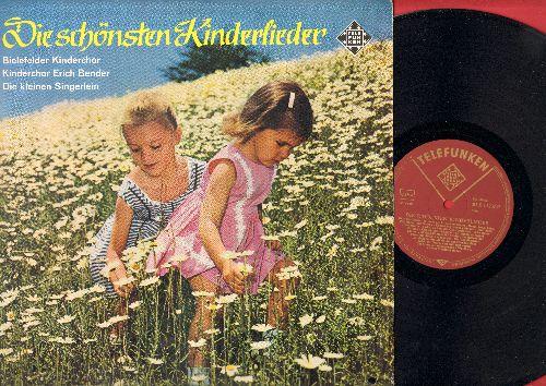Bielefelder Kinderchor, Kinderchor Erich Bender, Die kleinen Singerlein - Die schoensten Kinderlieder: Hanschen klein, Alle meine Entchen, Alle Voegel sind schon da, Schlaf Kindchen schlaf (German Pressing, sung in German) - NM9/EX8 - LP Records