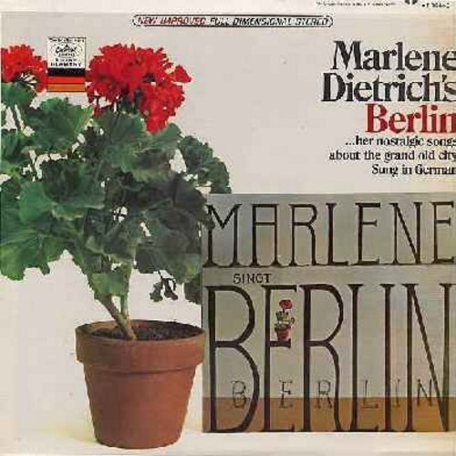Dietrich, Marlene - Marlene Dietrich's Berlin - Her Nostalgic Songs About The Grand Old City Sung in German (vinyl STEREO LP record) - M10/EX8 - LP Records