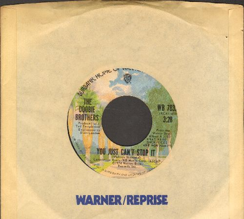 Doobie Brothers - You Just Can't Stop It/Eyes Of Silver (with Warner Brothers company sleeve) - EX8/ - 45 rpm Records