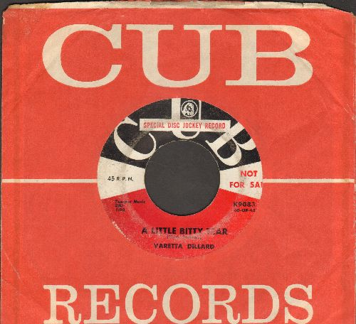 Dillard, Varetta - A Little Bitty Tear/Mercy, Mr. Percy (DJ advance pressing with Cub company sleeve) - VG7/ - 45 rpm Records