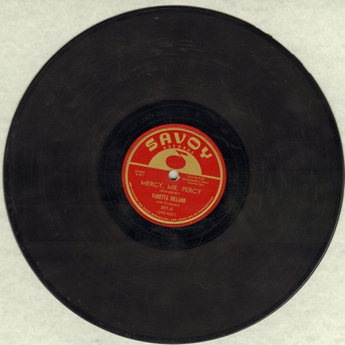 Dillard, Varetta - Mercy, Mr. Percy/No Knida Good, No How (10 inch 78 rpm record) - EX8/ - 78 rpm