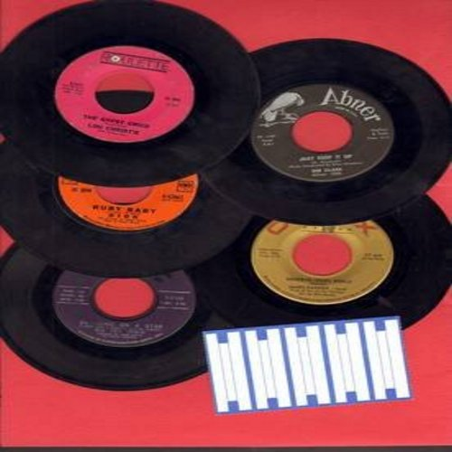 Irwin, Big Dee, James Darren, Dee Clark, Dion, Lou Christie - Teen Oldie 5-Pack: 5 first issue 45rpm records, all in very good or better condition, shipped in plain white paper sleeves with strip of 5 blank juke box labels. Hits include Swinging On A Star