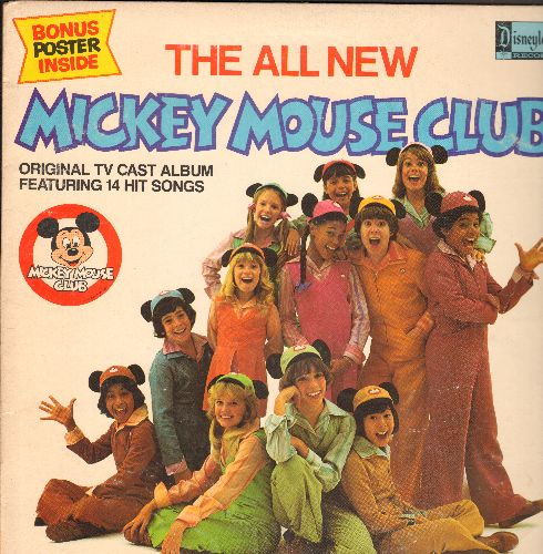 Disney - The All New Mickey Mouse Club - Original TV Cast Album Featuring 14 Hit Songs (vinyl LP record, no poster) - EX8/VG7 - LP Records