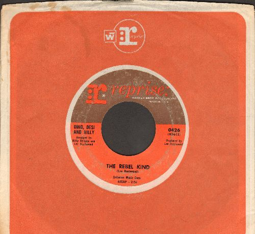 Dino, Desi & Billy - The Rebel Kind/Please Don't Fight It (with Reprise company sleeve) - VG7/ - 45 rpm Records
