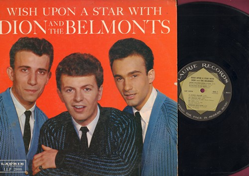 Dion & The Belmonts - Wish Upon A Star: In The Still Of The Night, Swinging On A Star, A Lover's Prayer, September Song, It's Only A Paper Moon (vinyl MONO LP record) - EX8/EX8 - LP Records