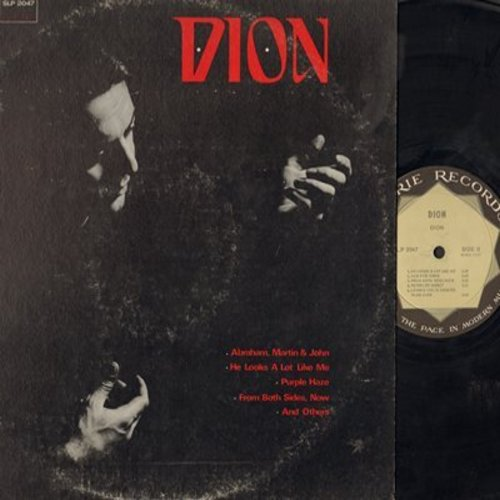 Dion - Dion: Abraham Martin And John, Purple Haze, Both Sides Now, Everybody's Talkin', Sonny Boy (vinyl STEREO LP record) - EX8/VG7 - LP Records