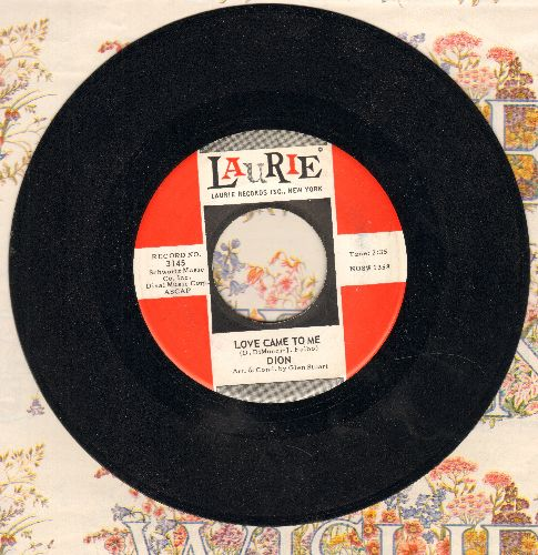 Dion - Love Came To Me/Little Girl (with vintage Laurie company sleeve) - VG7/ - 45 rpm Records