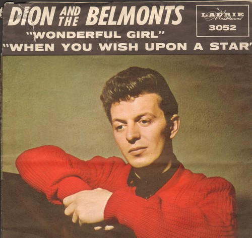 Dion & The Belmonts - When You Wish Upon A Star/Wonderful Girl (with picture sleeve) - NM9/VG7 - 45 rpm Records