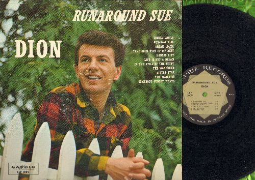 Dion - Runaround Sue: Somebody Nobody Wants, Dream Lover, The Wanderer, Little Star, Take Good Care Of My Baby (vinyl MONO LP record) - EX8/VG7 - LP Records