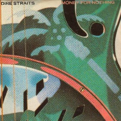 Dire Straits - Money For Nothing/Love Over Gold (LIVE) (with picture sleeve) - EX8/EX8 - 45 rpm Records