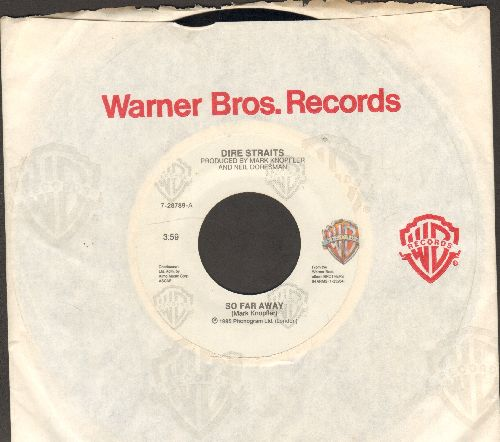 Dire Straits - So Far Away/If I Had You (with Warner Brothers company sleeve) - EX8/ - 45 rpm Records