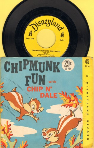 Chip 'N Dale - Chipmunk Fun With Chip 'N Dale - Fun Story in 2 Parts (with picture sleeve) - EX8/EX8 - 45 rpm Records