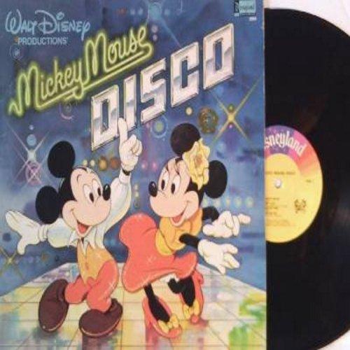 Disney - Mickey Mouse Disco: Macho Duck, Zip-A-Dee-Doo-Dah, It's A Small World, Disco Mickey Mouse, Mousetrap (vinyl LP record) - VG7/VG7 - LP Records