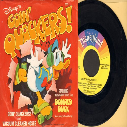 Disney - Goin' Quackers!/Vacuum Cleaner Hoses (with RARE picture sleeve) - NM9/EX8 - 45 rpm Records