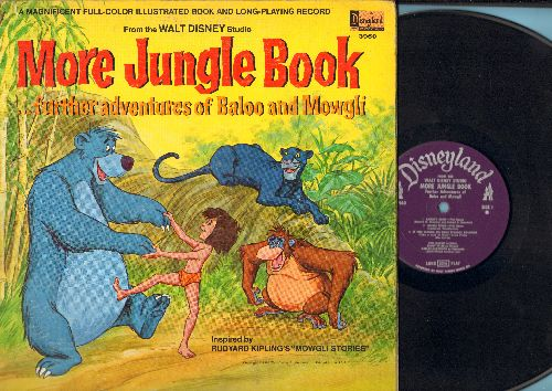 Disney - More Jungle Book…further adventures of Baloo and Mowgli (vinyl MONO LP record, gate-fold cover with picture pages) - VG7/EX8 - LP Records