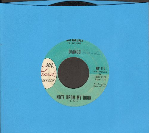Django - Note Upon My Door/Nothing For Me (DJ advance pressing) - EX8/ - 45 rpm Records