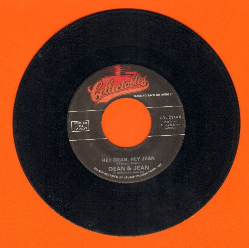 Dean & Jean - Hey Dean, Hey Jean/Tra La La La Lucy (double-hit re-issue) - VG7/ - 45 rpm Records