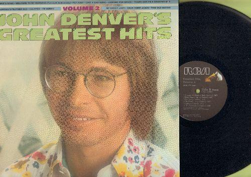 Denver, John - John Denver's Greatest Hits Vol 2: Annie's Song, Fly Away, Thank God I'm A Country Boy, I'm Sorry (vinyl STEREO LP record) - NM9/NM9 - LP Records