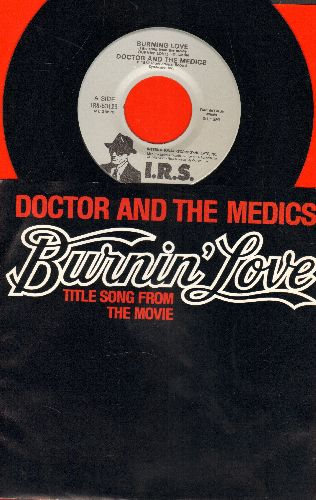 Doctor And The Medics - Burnin' Love (Title Song from the Movie)/Waterloo (with picture sleeve) - NM9/NM9 - 45 rpm Records