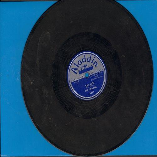 Dodgers - Drip Drop/Cat Hop (FANTASTIC Vintage R&B two-sider! - RARE 10 inch 78 rpm record) - VG7/ - 78 rpm
