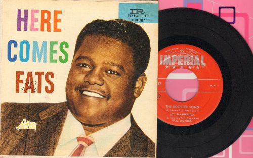 Domino, Fats - The Rooster Song/My Happiness/As Time Goes By/Hey La Bas (vinyl EP record with picture cover) - EX8/EX8 - 45 rpm Records