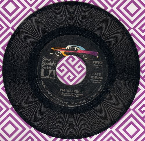 Domino, Fats - I'm Walkin'/One Night (double-hit re-issue) - VG7/ - 45 rpm Records