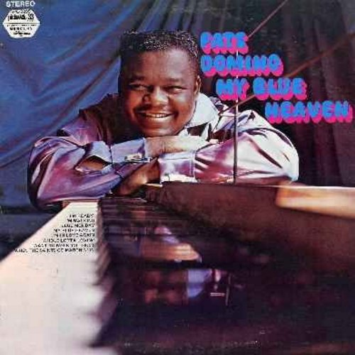 Domino, Fats - My Blue Heaven: I'm Ready, I'm Walking, Blue Monday, I'm In Love Again, Whole Lotta Loving, I Want To Walk You Home, When The Saints Go Marchin' In (vinyl STEREO LP record - 1970s issue) - NM9/EX8 - LP Records