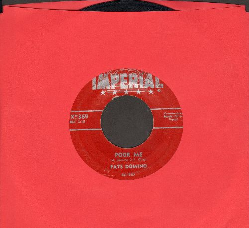 Domino, Fats - Poor Me/I Can't Go On (1953 first pressing) - VG6/ - 45 rpm Records