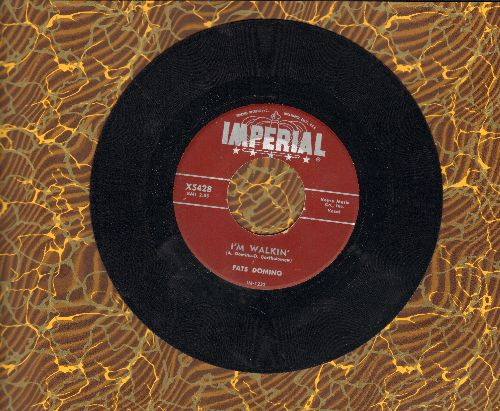 Domino, Fats - I'm Walkin'/I'm In The Mood For Love (maroon label first issue) - VG7/ - 45 rpm Records