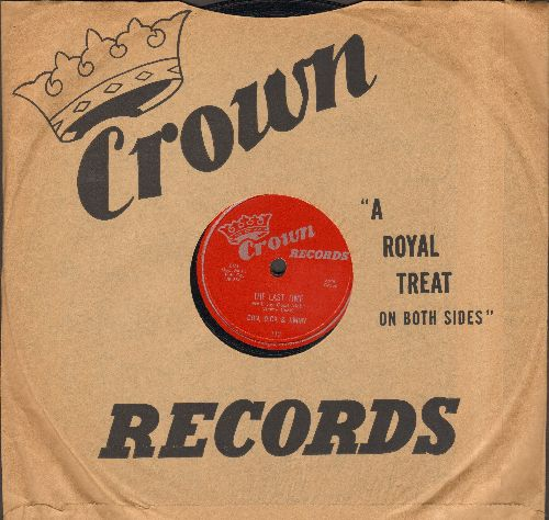 Don, Dick & Jimmy - The Last Time/The Piano Players (10 inch 78 rpm record with Crown company sleeve) - NM9/ - 78 rpm