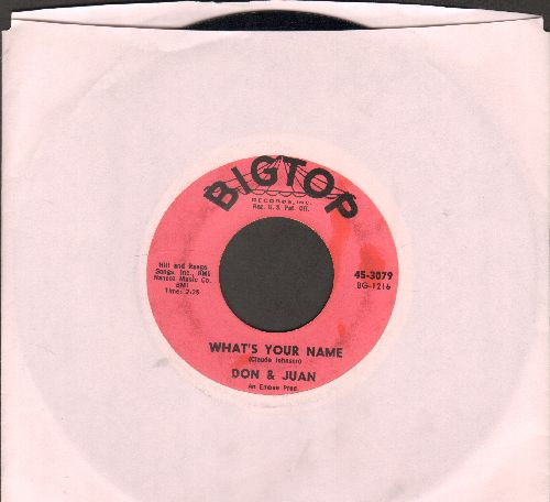 Don & Juan - What's Your Name/Chicken Necks (with juke box label)  - VG7/ - 45 rpm Records