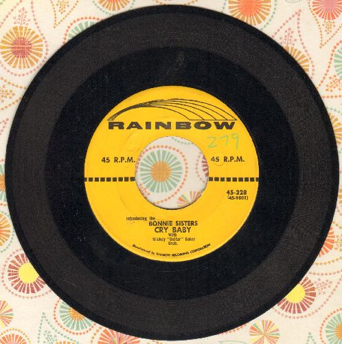 Bonnie Sisters - Cry Baby (FANTASTIC up-beat Vintage Rock & Roll Girl Sound!)/Broken - EX8/ - 45 rpm Records