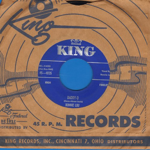 Bonnie Lou - Daddy-O/Dancing In My Socks (with vintage King company sleeve) - NM9/ - 45 rpm Records