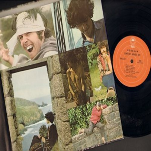 Donovan - Donovan's Greatest Hits: Mellow Yellow, Sunshine Superman, Hurdy Gurdy Man, Jennifer Juniper, Catch The Wind, Lalena (vinyl STEREO LP record, gate-fold cover with PICTUR PAGES) - NM9/VG7 - LP Records