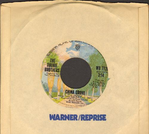 Doobie Brothers - China Grove/Evil Woman (with Warner Brothers company sleeve) - EX8/ - 45 rpm Records