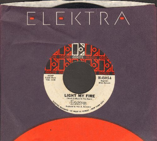 Doors - Light My Fire/The Crystal Ship (with Elektra company sleeve) (minor wol) - VG7/ - 45 rpm Records