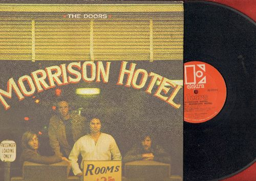 Doors - Morrison Hotel: Roadhouse Blues, Ship Of Fools, Maggie M'Gill, Peace Frog (RARE 1970 first pressing, gate-fold cover, vinyl rough, cover nice!) - VG6/EX8 - LP Records
