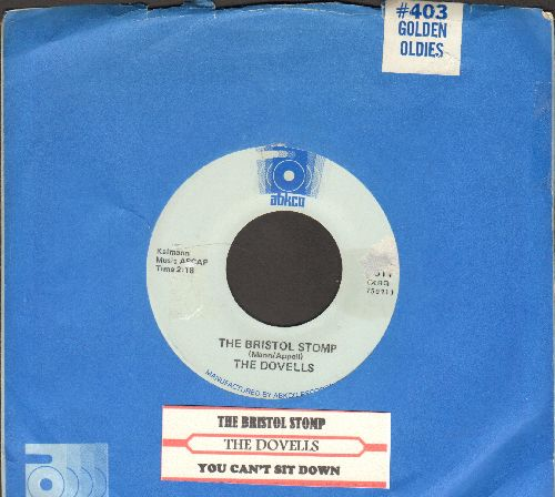 Dovells - The Bristol Stomp/You Can't Sit Down (double-hit re-issue with Abkco company sleeve and juke box label) - NM9/ - 45 rpm Records