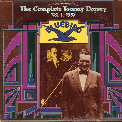 Dorsey, Tommy - The Complete Tommy Dorsey Vol. 1/1935: Santa Claus Is Comin' To Town, You Are My Lucky Star, What A Wonderful World, I've Got A Note (2 vinyl LP record set, gate-fold cover) - NM9/EX8 - LP Records