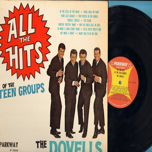 Dovells - All The Hits Of The Teen Groups: Why Do Fools Fall In Love, There Goes My Baby, Your Last Chance, Little Bitty Pretty One, Bristol Twistin' Annie (vinyl MONO LP record, NICE condition!) - EX8/VG7 - LP Records