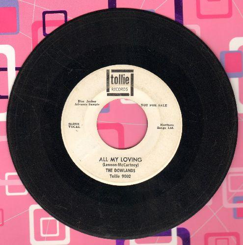 Dowlands - All My Loving/Hey Sally (DJ advance pressing) - VG7/ - 45 rpm Records