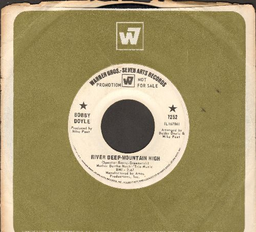 Doyle, Bobby - River Deep-Mountain High/Blowin' In The Wind (DJ advance pressing with Warner Brothers company sleeve) - VG7/ - 45 rpm Records