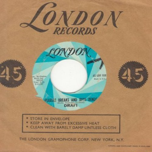 Drafi (Deutscher) - Marble Breaks And Iron Bends/Amanda (US pressing with London company sleeve) (minor wol) - EX8/ - 45 rpm Records