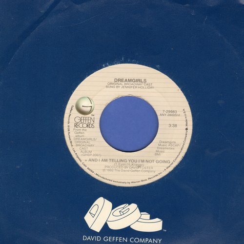 Holliday, Jennifer, Cleavant Derricks - And I Am Telling You I'm Not Going/Fake Your Way To The Top ( B-side scratched, A-side fine. boths songs from -Dreamgirls- Original Cast album, with Geffen company sleeve) - VG7/ - 45 rpm Records